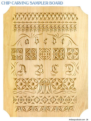 picture relating to Printable Chip Carving Patterns named Chip Carving No cost Sampler Habit by way of Lora Irish