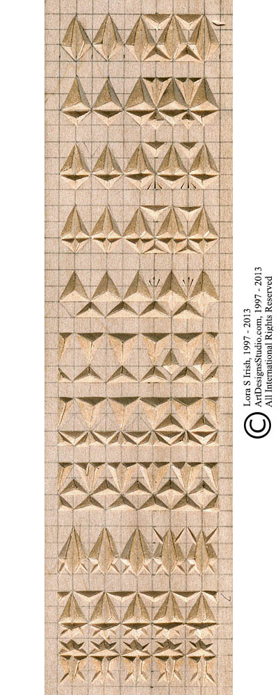 photo about Printable Chip Carving Patterns named Chip Carving No cost Sampler Habit by way of Lora Irish