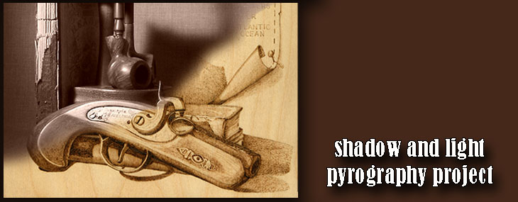 Color, shadow, and light in pyrography projects