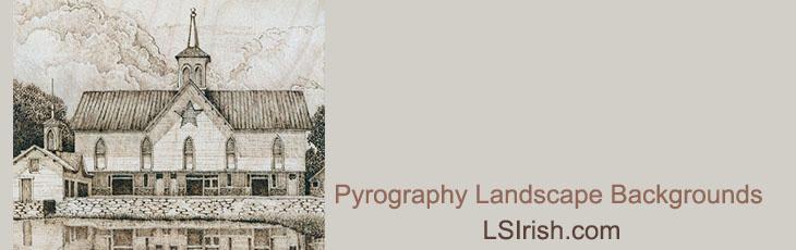 Pyrography Landscape Backgrounds