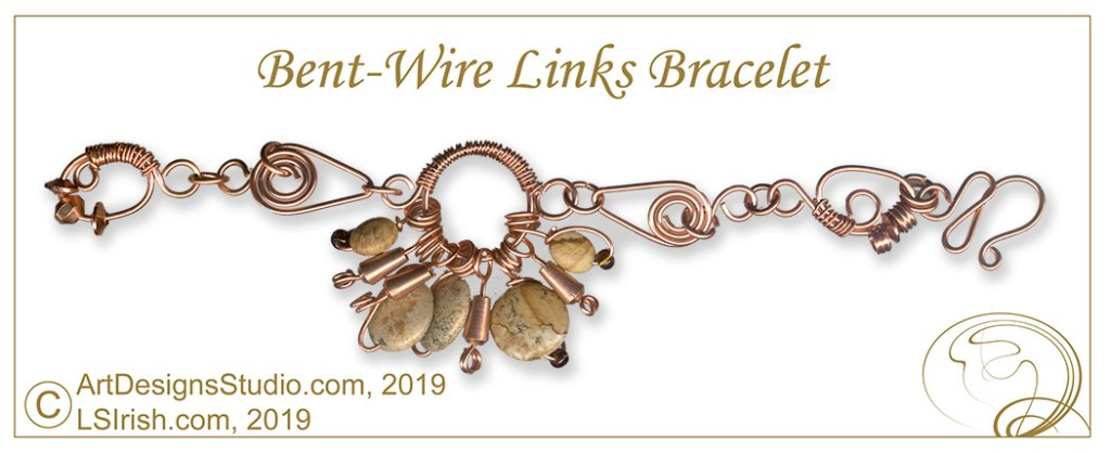 Wire-wrapped copper jewelry bracelet