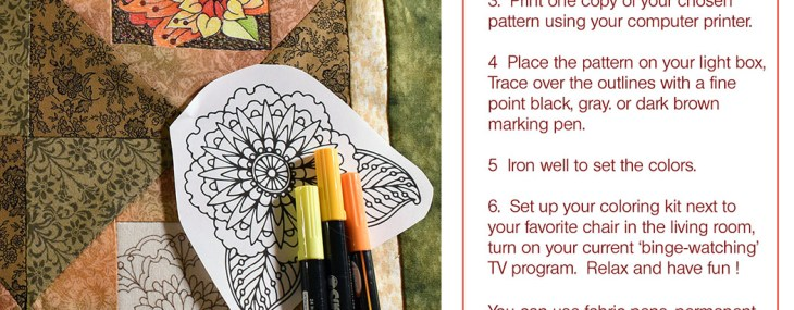 Coloring Book Quilt – Free Patterns