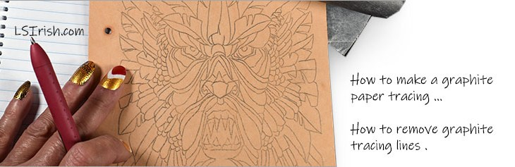 Pyrography Cleaning Graphite Tracing Lines