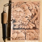 leather pyrography journal