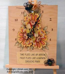 free pyrography clock pattern