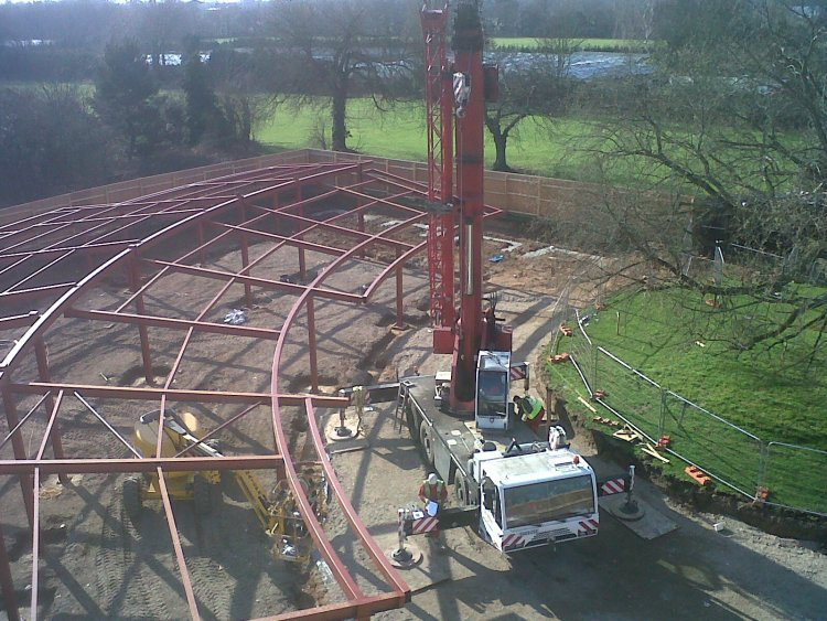 structural steel structure at Capel Manor School