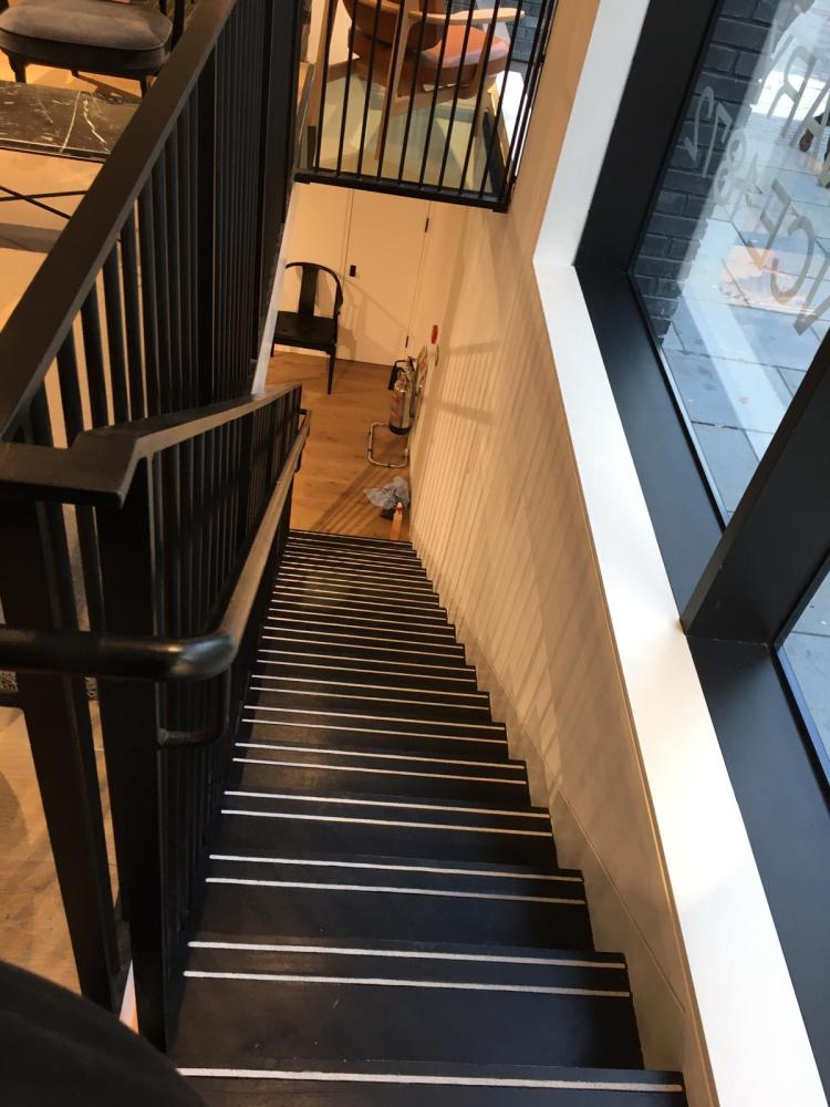 steel staircase at Cowcross St, Faringdon, London