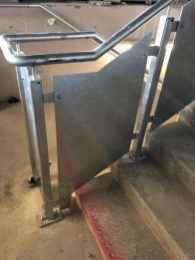 steel staircase manufactured by LSJ Engineering, Essex