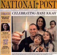 Lorne and family featured on front page of Canada's National Post