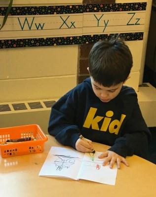 Preschool 4 Cole writing
