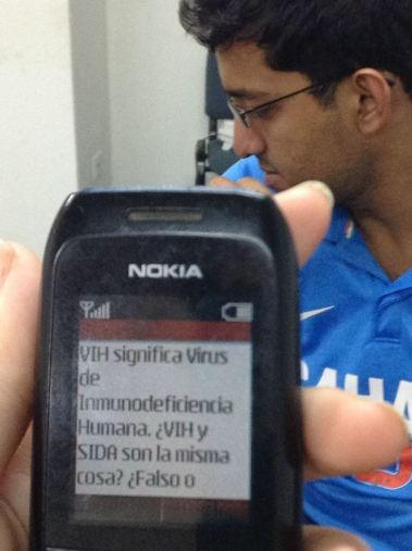 ChatSalud is designed to work on the lowest common-denominator phone--you don't need a smart phone to be smart!