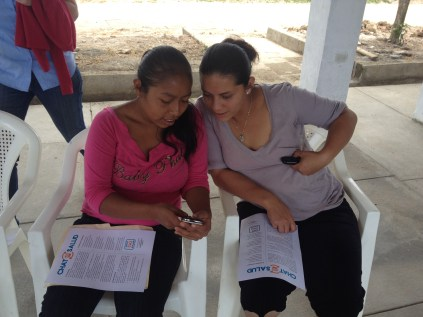 Learning how to use ChatSalud during the proof of concept study in Los Robles, Jinotega
