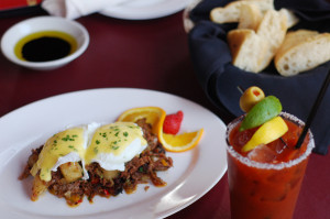 Taverna, Brisket Hash and Bloody Mary.