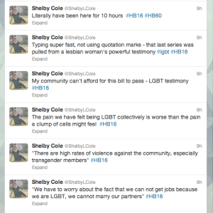 Screenshots of my furiously live-tweeting the hearing.