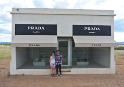 Our obligatory shot with Prada Marfa, an art installation thirty minutes outside of the city proper.