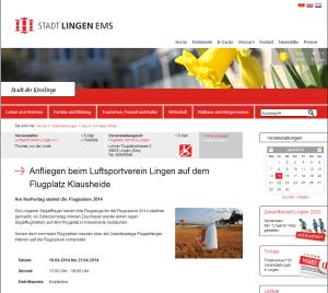 Veranstaltungskalender http://lingen.de