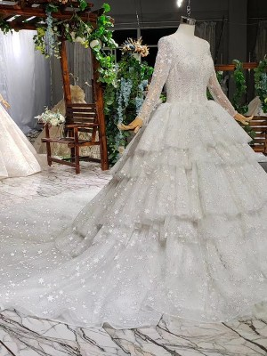 Royal Train Wedding Dresses