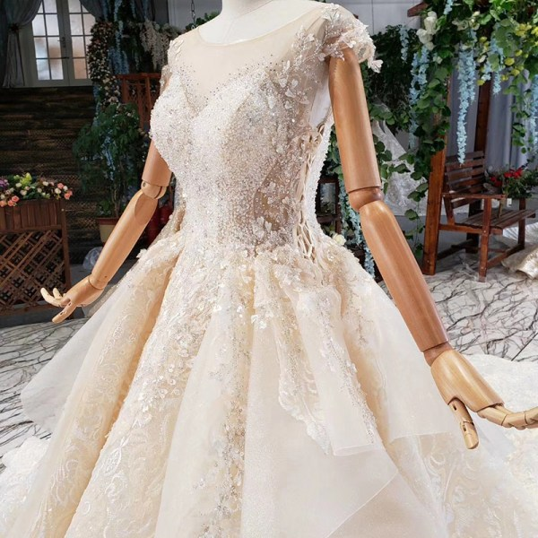 Appliques Sequined Wedding Dresses