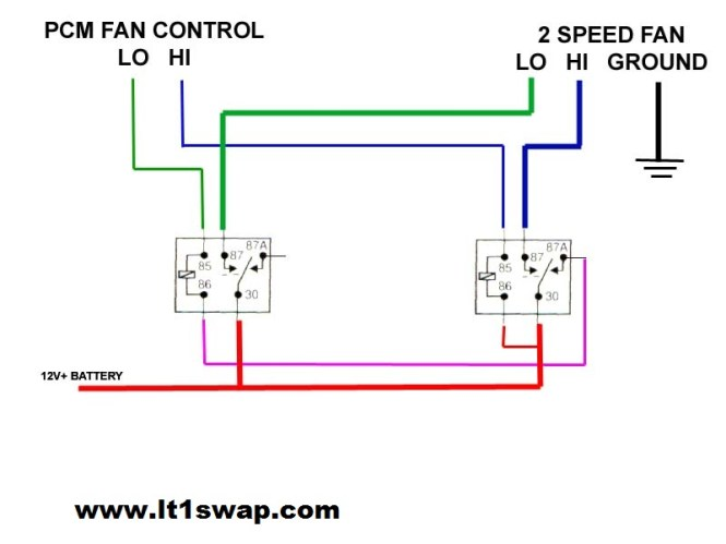 wiring diagram for dual electric fans wiring image electric fan wiring diagram relay electric auto wiring on wiring diagram for dual electric fans