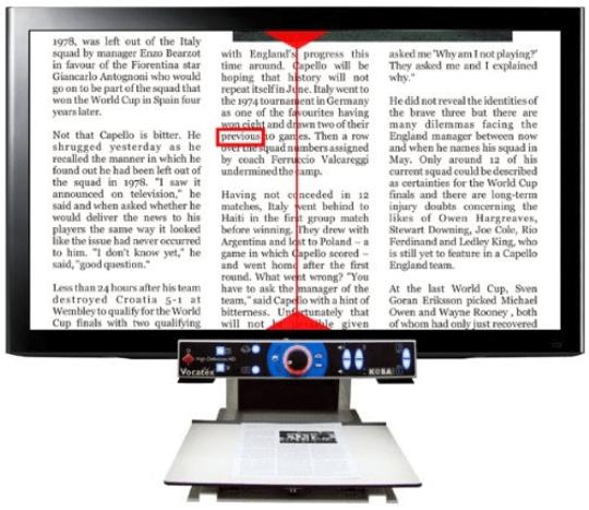 """טמ""""ס מקריא מסוג Vocatex"""
