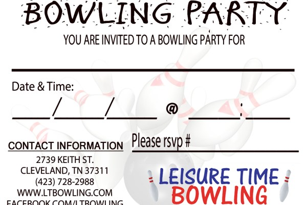 Print Invitations Leisure Time Bowling
