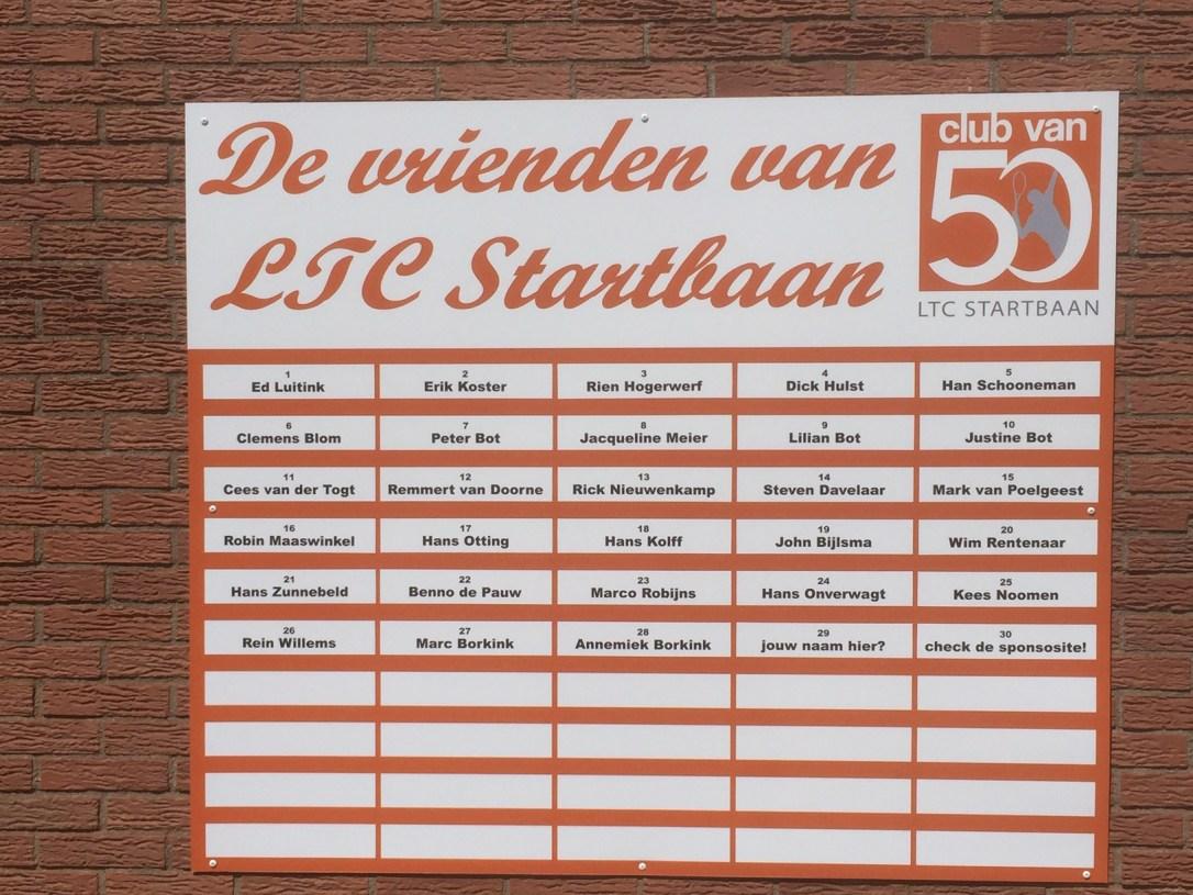 Bord club van 50