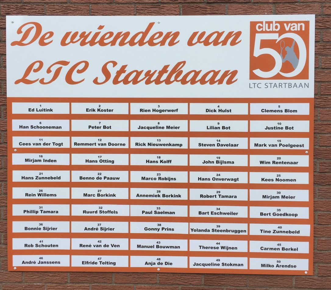 Club van 50 - 2020