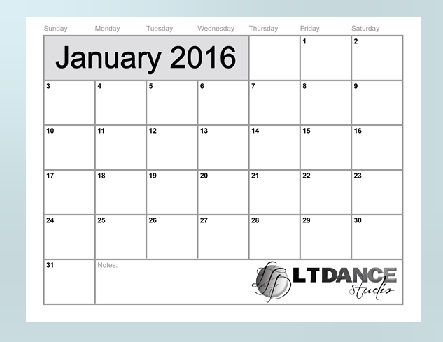 january 2016 motivational calendar image