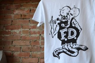 FOLK DEVIL 'BOOTLEG' TEE PRINTED ON HEAVY WEIGHT GILDAN 100% COTTON