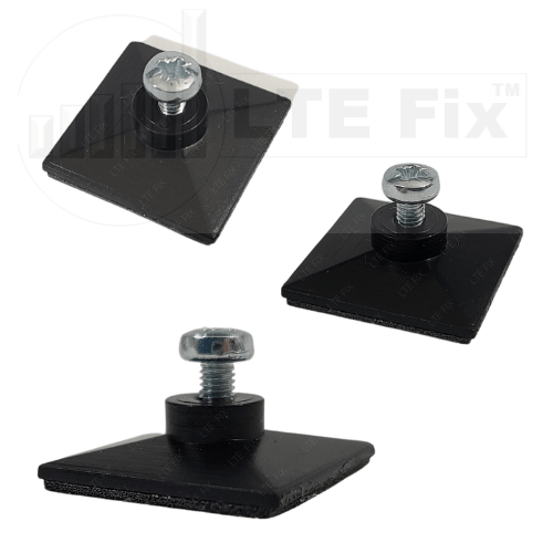 Low Profile Adhesive Router PCB Mounting Pads-Black-2