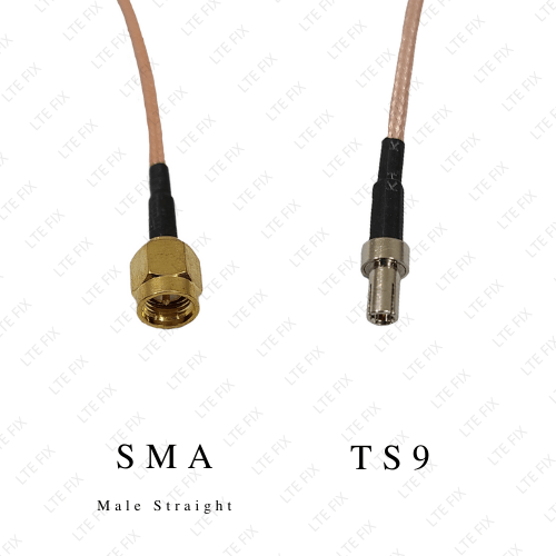 SMA Male Straight to TS-9 Male Adapter Pigtail