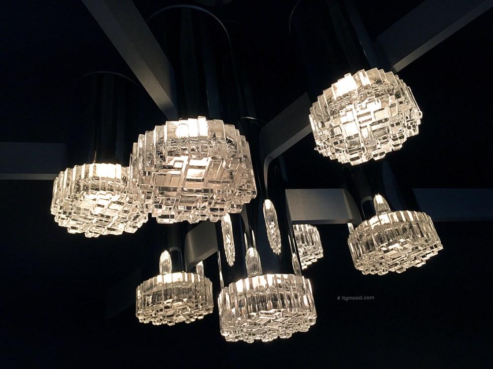 lustre vintage gaetano sciolari chez ltgmood galerie de luminaires vintage à paris