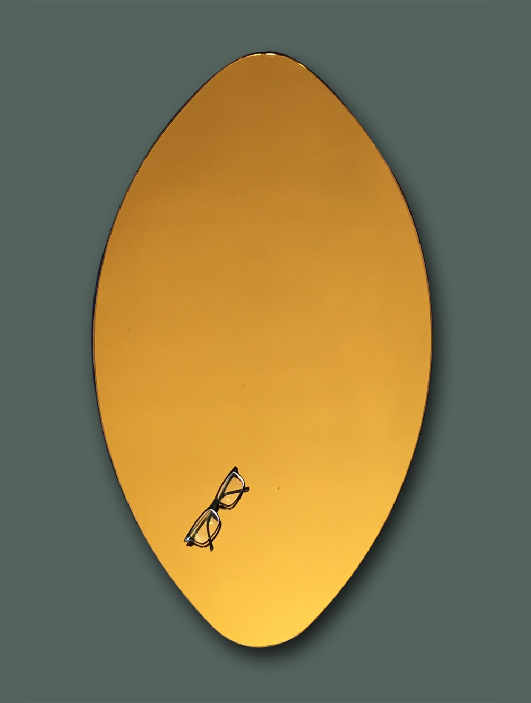 miroir teinté jaune