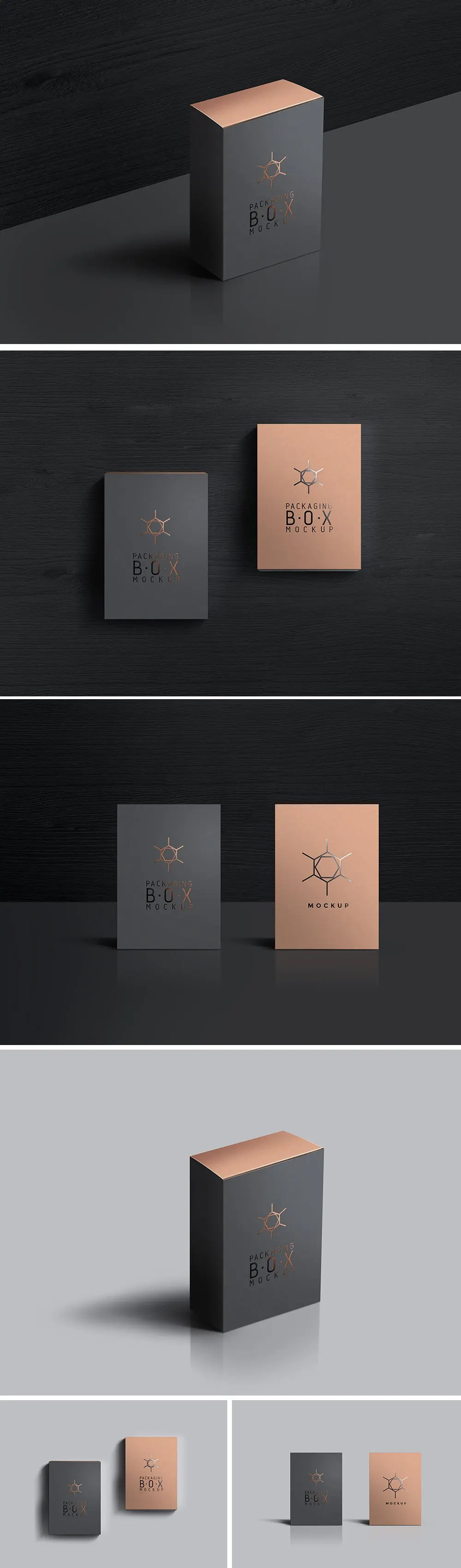 Download Packaging Box Mockup PSD Templates - LTHEME