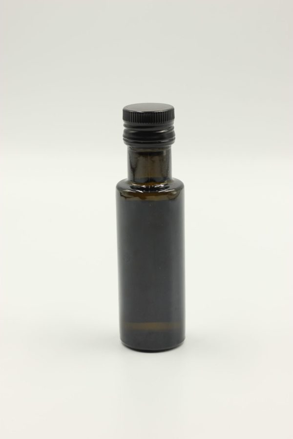 dark amber glass bottle