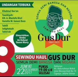Sewindu Haul Gus Dur, Yenny Wahid : Pilihan Politik Boleh Beda Tapi Semua demi Bangsa