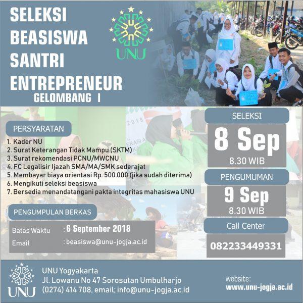 Beasiswa Santri Entrepreneur