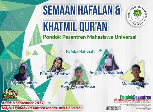 Semaan Hafalan dan Haflah Qur'an Pondok Pesantren Universal Cibiru Kota Bandung