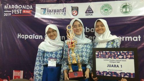 SMP Dian Didaktika dan MIN 8 Raih Juara 1 Cerdas Cermat di Margonda Fest 2019