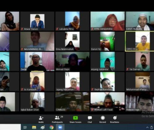 Rapat Daring Pergunu Kota Bandung, Siap Sambut Ramadhan 1441 H