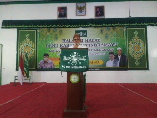 PCNU Indramayu Lakukan Halal Bihalal Bersama Prof. KH. Said Aqil Siradz Via Daring
