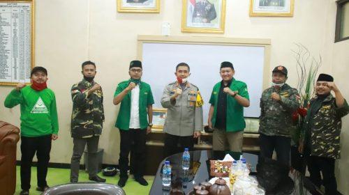 HUT Bhayangkara ke-74, PC GP Ansor Sumedang Sambangi Kapolres Sumedang