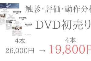 評価・動作分析・触診DVD初売りセール26,000円→19,800円!