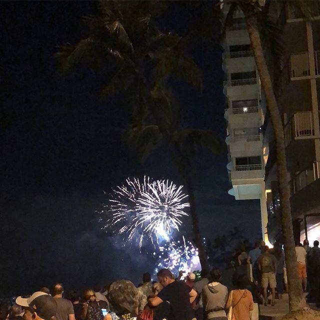 ハワイ・ヒルトンの花火