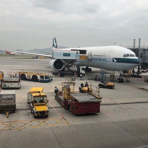 まもなく香港出発