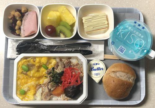 アメリカ系航空会社イメージ機内食