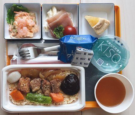 JAL BISTRO de SKY / 北海道セット・やきとり(豚肉)丼