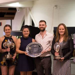 Presentation Night 2018 - Kate Bond, Emily Turnbull, Teresa D'Angelo, Josh Rogerson, Samantha Greene & Tom Mooney