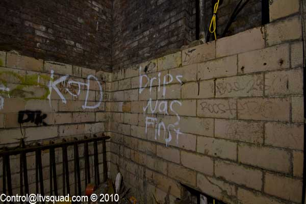 Drips was apparently here first. Just like all exploring, the taggers get their first.