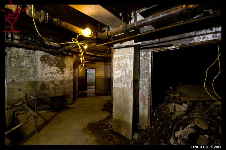 Basement Hallway under the Arch